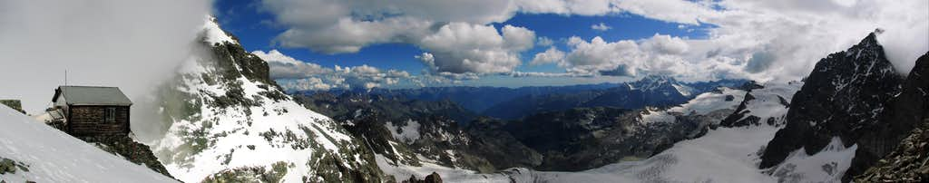 Panorama from Marco E Rosa hut