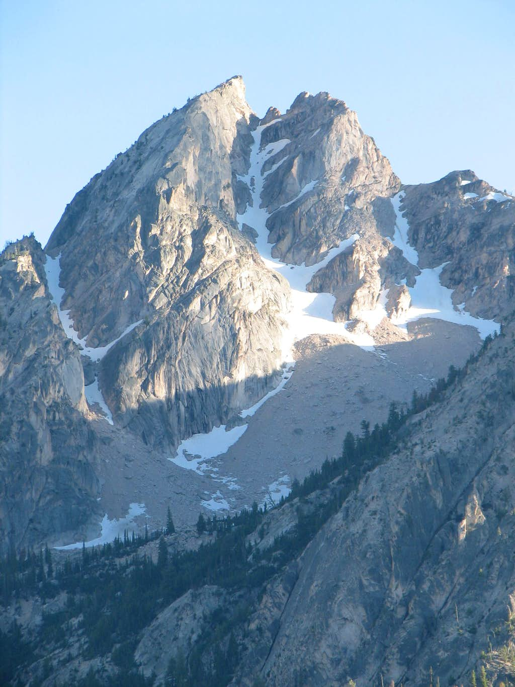 Close up of the NF snow couloir