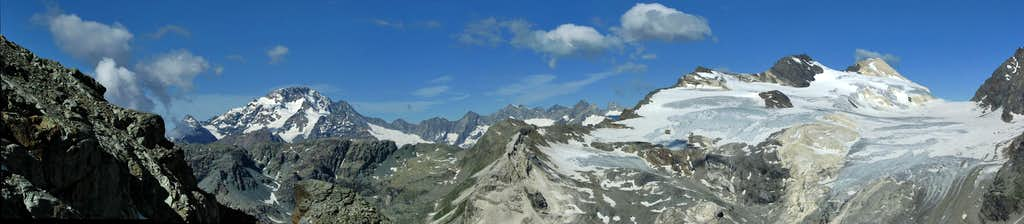Panorama from the way to Marco E Rosa hut