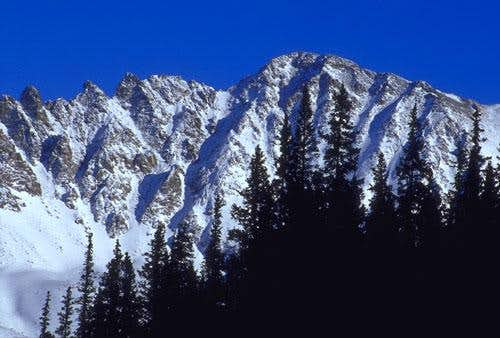 Fletcher Peak in the winter,...
