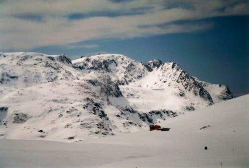 Mt. Kalin with Ivan Vazov hut...