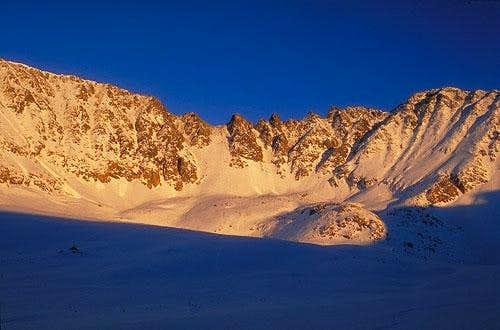Sunset on Fletcher Peak, as...