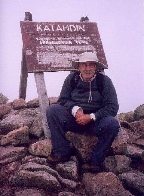 Self Portrait atop Katahdin