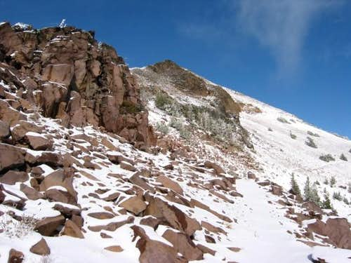 Closing in on the summit....