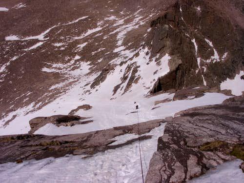 Descending the North Face