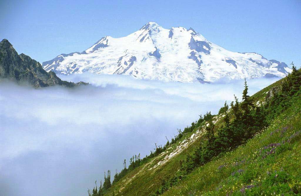 Glacier Peak as seen from the...