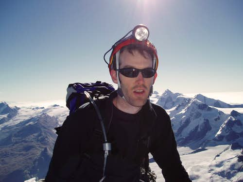On the summit of the Matterhorn