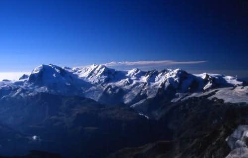 Monte Rosa Group From The West.
