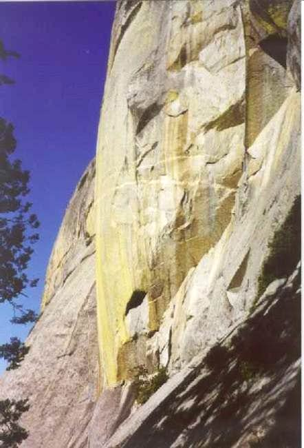 The base of Moro Rock's East...