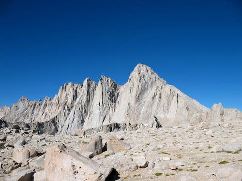 Mt. Whitney - above scree field