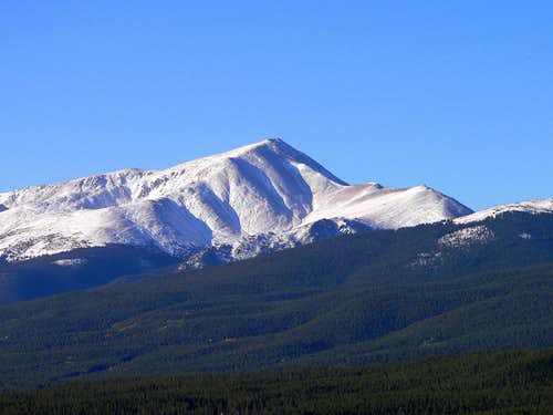 First snow on Mt Elbert