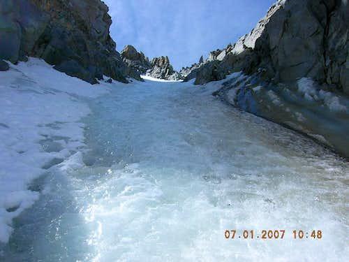 V-Notch ice:  July 1, 2007