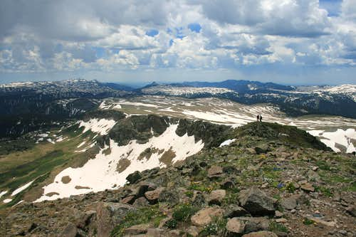 ridgeline to Glacier Lake