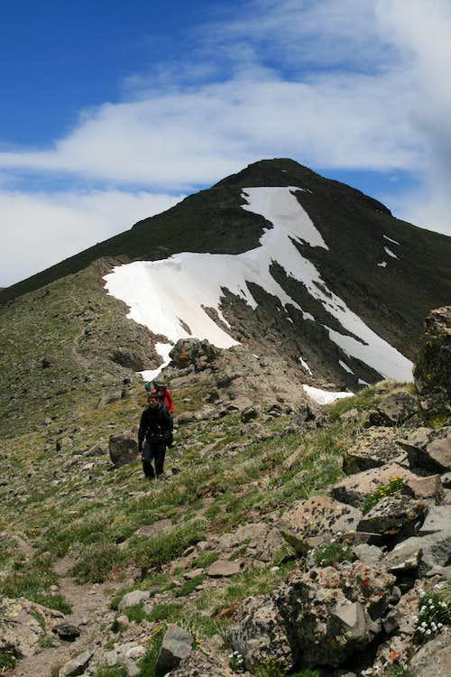 Conejos Peak from Southwestern arm