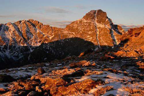 Sunrise alpenglow on Mt. of...