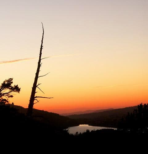 Sunset over Caples Lake from...