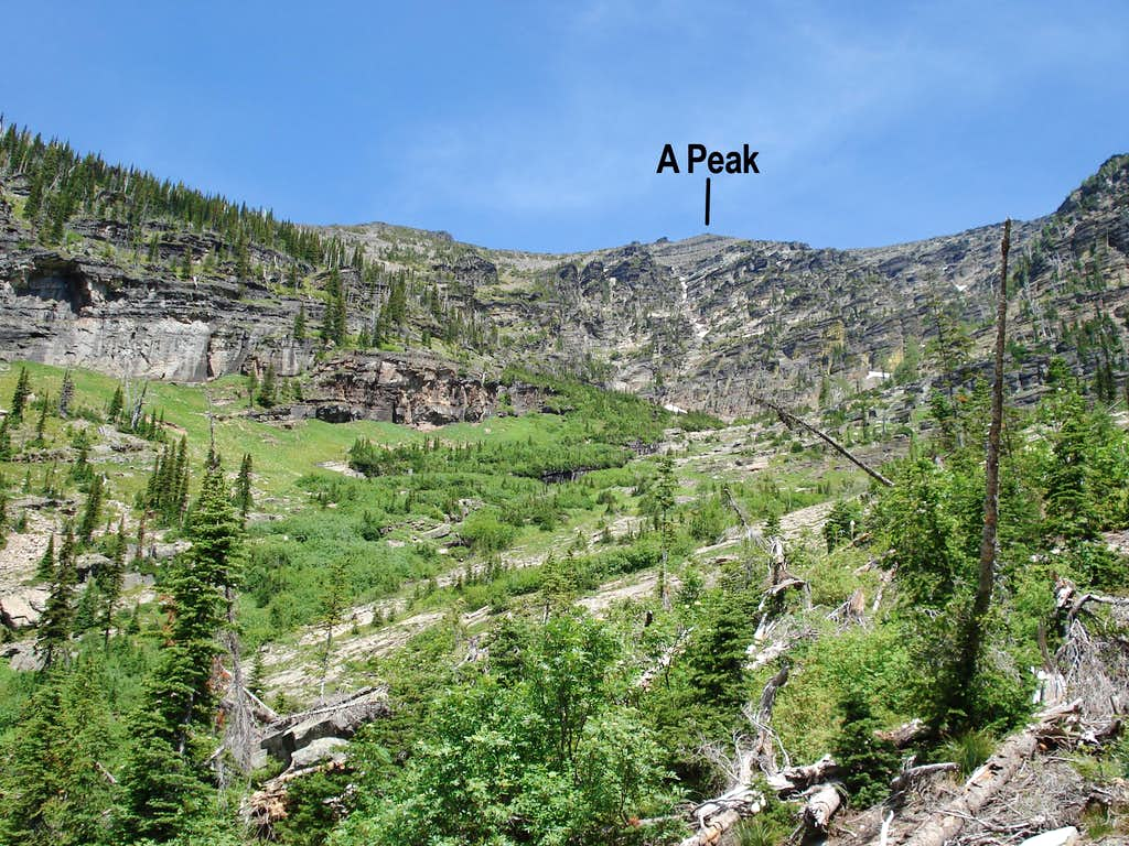 'A' Peak