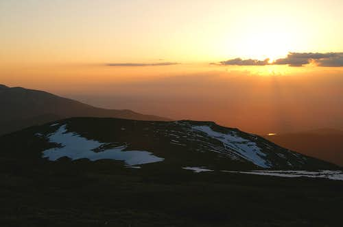 Sunset from the top of Dos Hermanas Menor