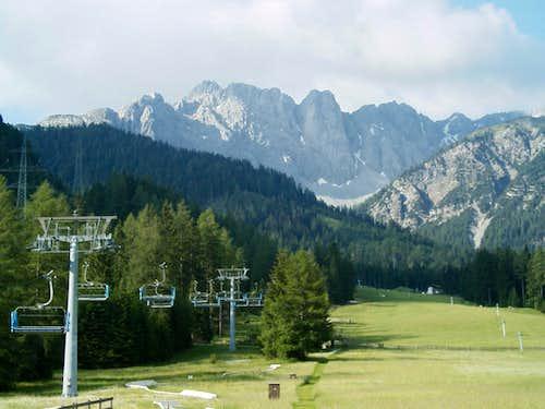 Wannig and Handschuhspitzen above Marienbergjoch