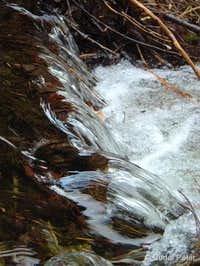 Flow of water in the Sokol stream