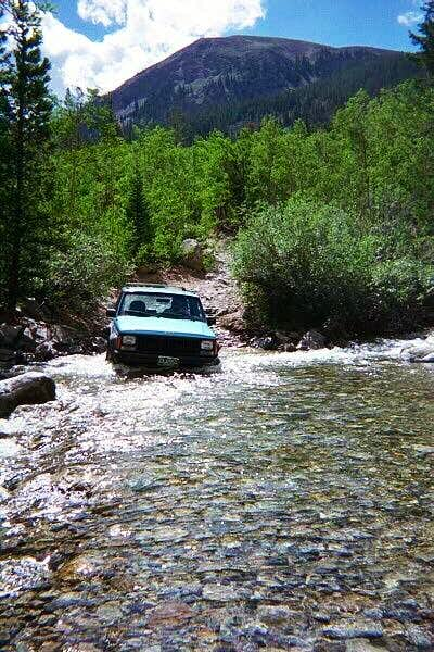 Crossing Clear Creek at...