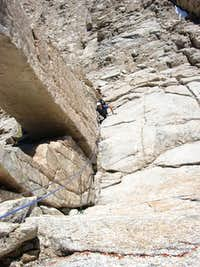 On the first pitch of the East Buttress