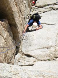 First pitch of the East Buttress (details)