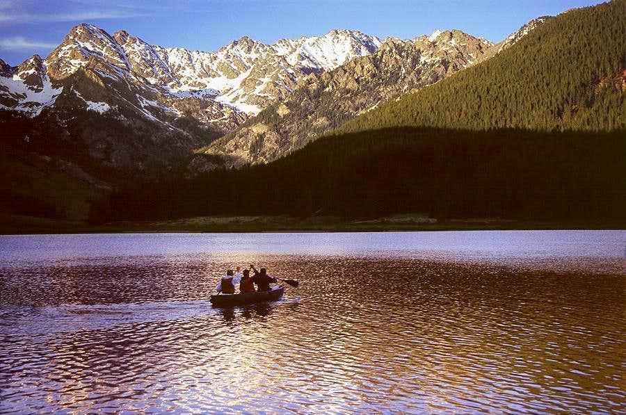 Canoeing Piney Lake