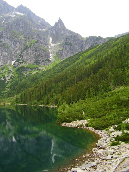 Mnich (The monk) above the lake Morskie oko
