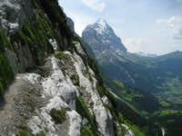 Accross the ledge to the Eiger and Grindlewald