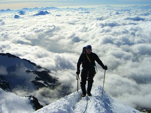 ridge over the clouds