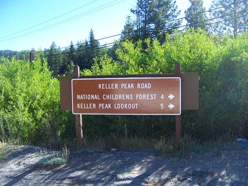 Turnoff for Keller Peak