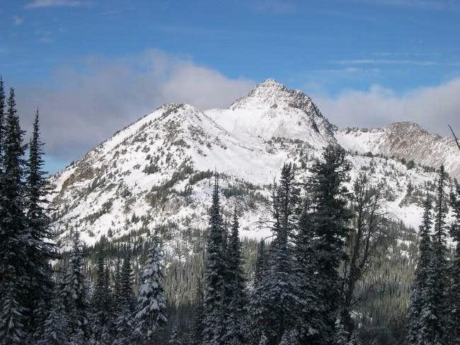 Krag Peak from the west just...