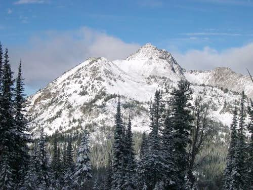 Krag Peak from the west just...
