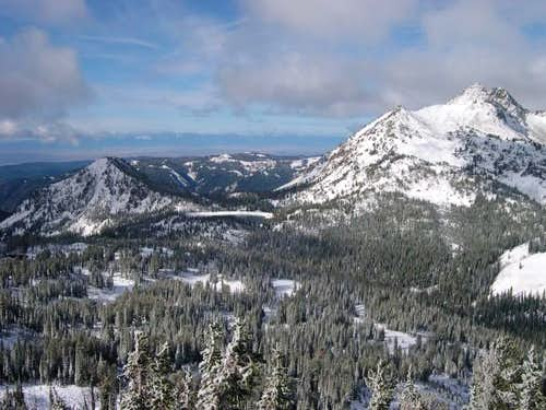 Truax Mountain (left), Crater...