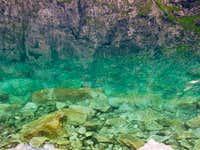 The lake Czarny staw pod Rysami is 76 meters deep
