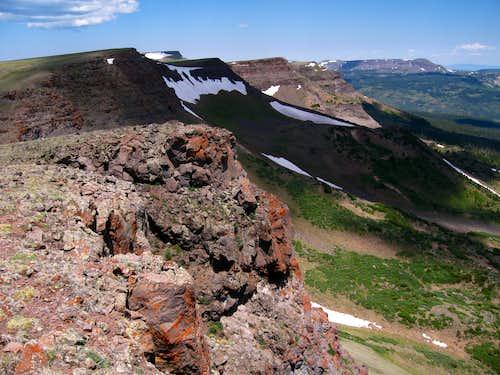 Dome Mountain, Flattop Mountain, and Orno Peak