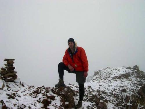 Yours truly on the summit of...