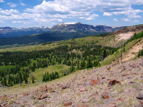 Derby Peak from Dome Peaks slopes, Flat Tops Wilderness