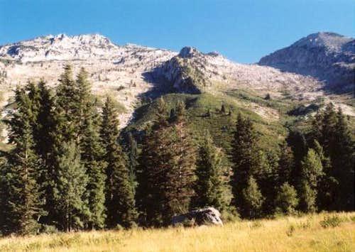 Lone Peak and Upper Bells...