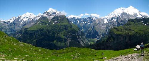 Western Bernese Alps Panorama