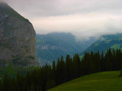 View southwest of Kleine Scheidegg