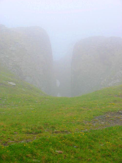 Little canyon in the mist