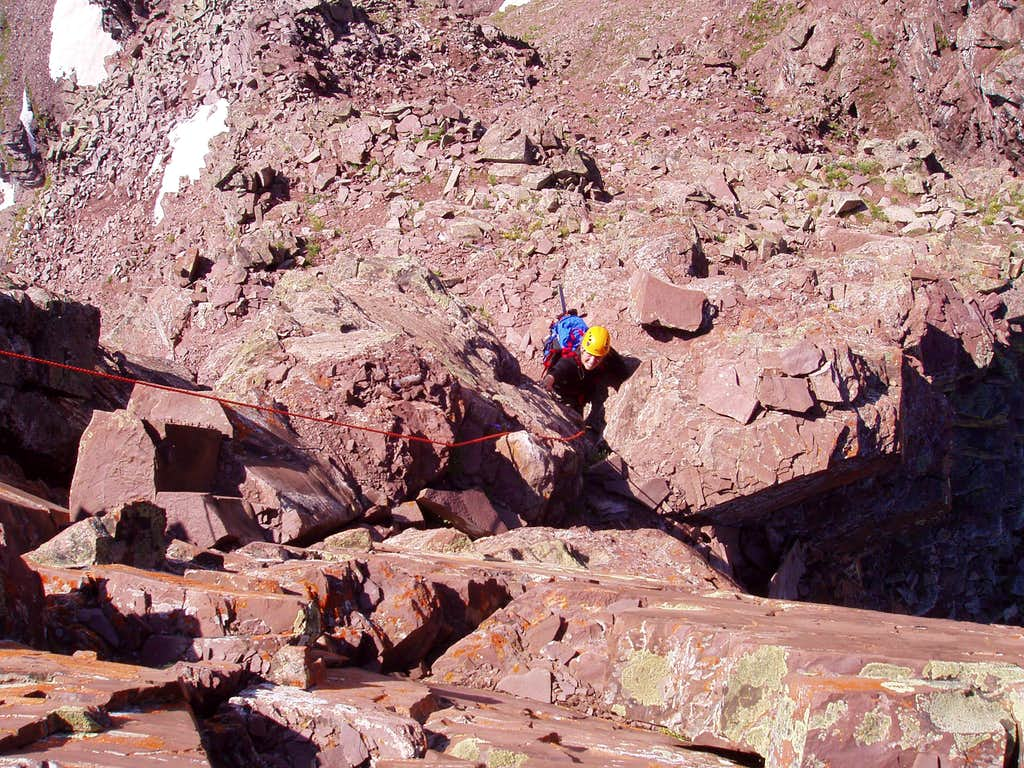 5.easy on the Maroon Bells Traverse