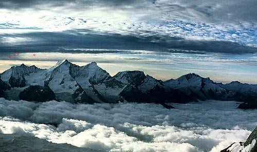 Panoramic view of the Nadelgrat