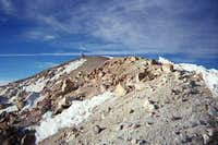 Approaching the summit of...