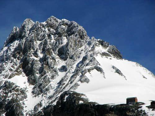 Italian summit of Piz Bernina