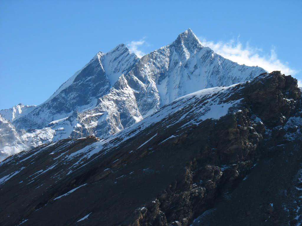 Dom and Taschhorn from Rothorn