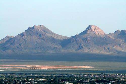 Southern section of Doña Ana Mountains