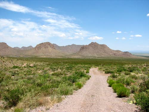 Doña Ana Mountains access road